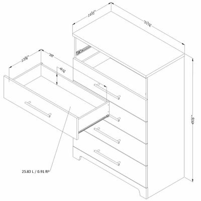 Primo 5-Drawer Chest