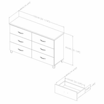 Lazer 6-Drawer Dresser