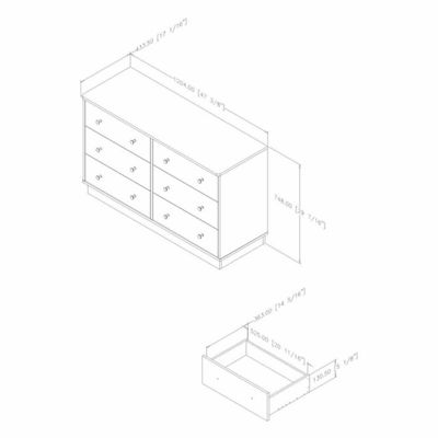 Litichi 6-Drawer Dresser