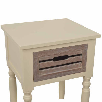 Decor Therapy Melody 1-Drawer Storage End Table