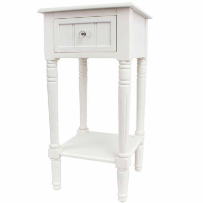 Decor Therapy Square 1-Drawer Storage End Table