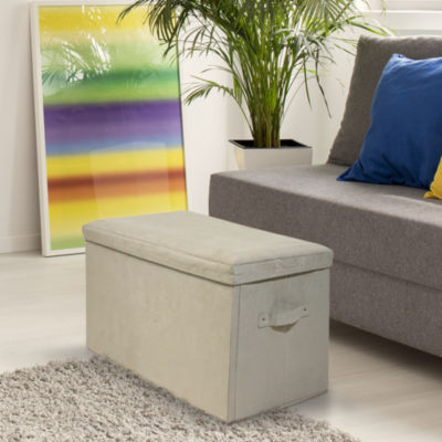 Cushioned Fold-Up Storage Bench