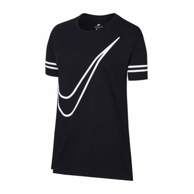 Nike Short Sleeve Crew Neck T-Shirt-Womens