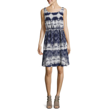 Libby Edelman Sleeveless Blouson Dress