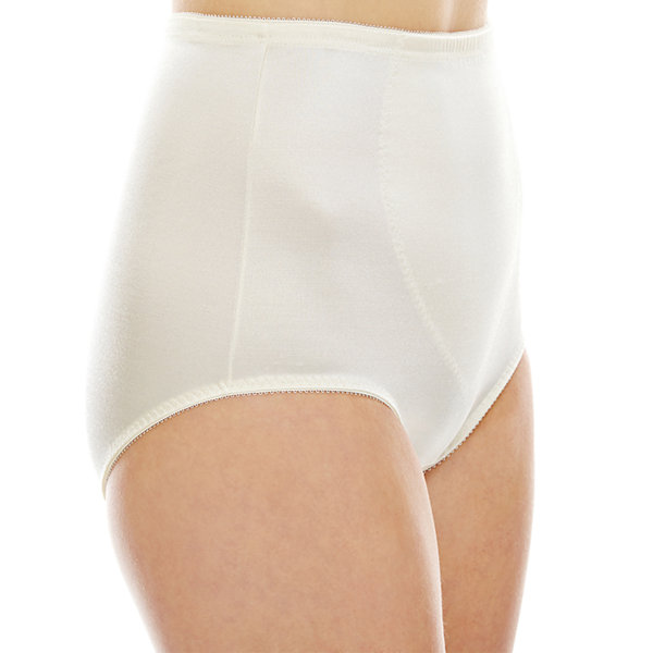 Underscore Plus Rainbow Stretch Satin Tummy Panel Light Control Control Briefs 123-3905