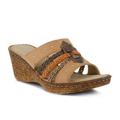 Queen Street Patrizia Pitaya Slide Wedge Sandals