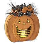 JCPenney Home Wooden Led Jack-O-Lantern Tabletop Decor