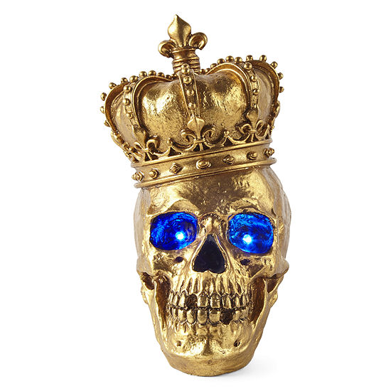 JCPenney Home Skull With Crown Tabletop Decor