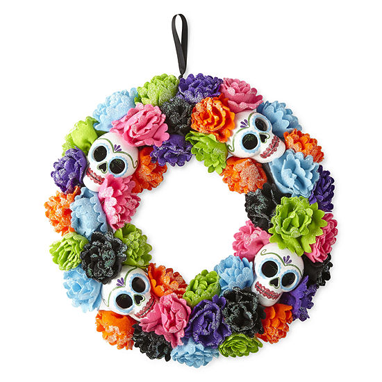 JCPenney Home Day Of The Dead Wreath