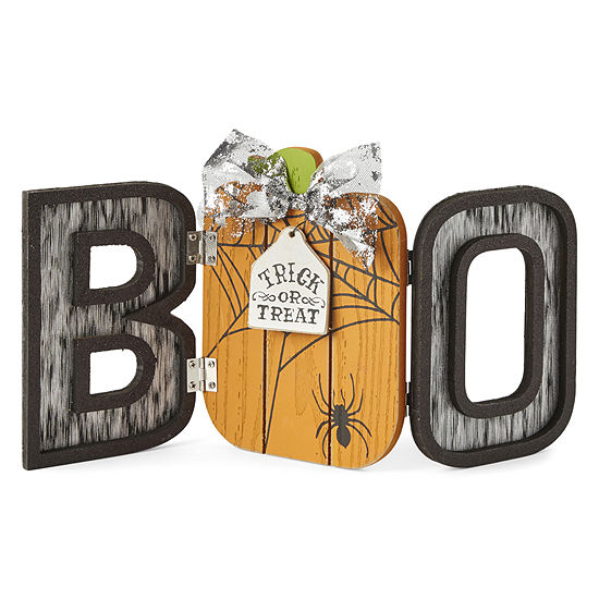 JCPenney Home Galvanized Collapsible Boo Letter Blocks