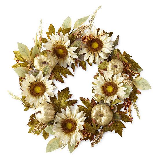 JCPenney Home Sunflower Wreath