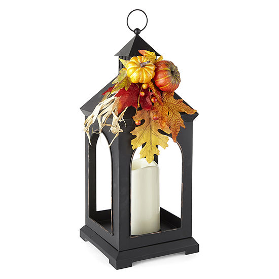 JCPenney Home Large Black Iron Decorative Lantern