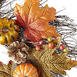 JCPenney Home Traditional Pumpkin Wreath