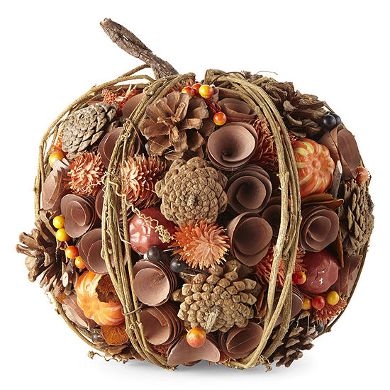 JCPenney Home Woodcurl Pumpkin Tabletop Decor
