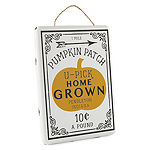 JCPenney Home Enamel Pumpkin Patch Wall Sign