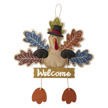 JCPenney Home Welcome Turkey Door Hanging, One Size , Multiple Colors
