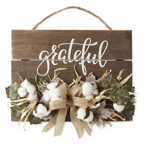 JCPenney Home Grateful Cotton Wall Sign
