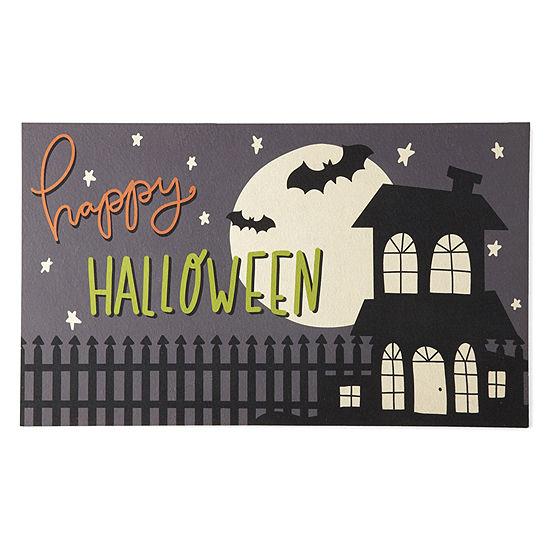 JCPenney Home Midnight Halloween Rectangular Outdoor Doormat