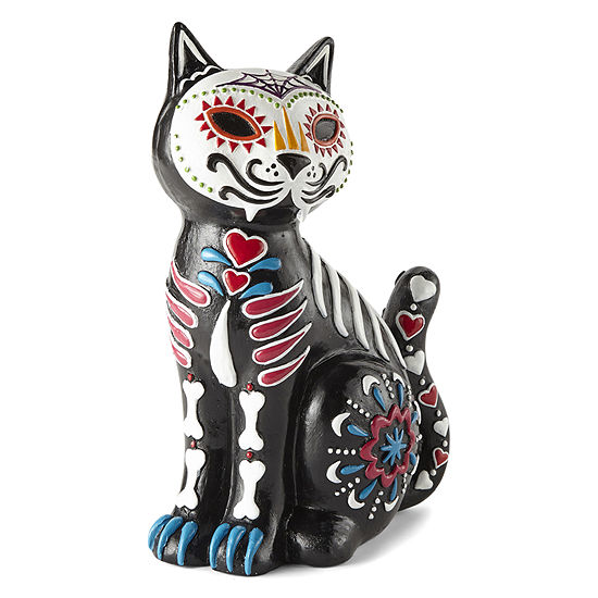 JCPenney Home Day Of The Dead Cat Figurine