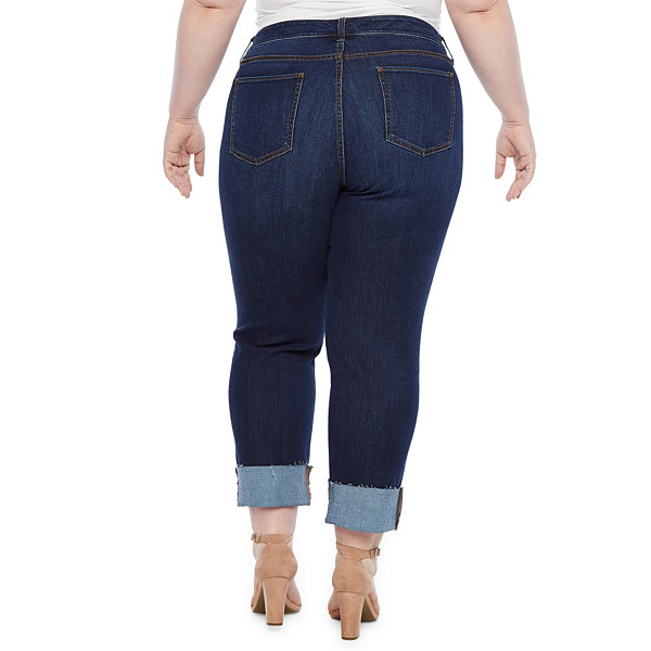 a.n.a Wide Cuff Straight Leg Jean - Plus