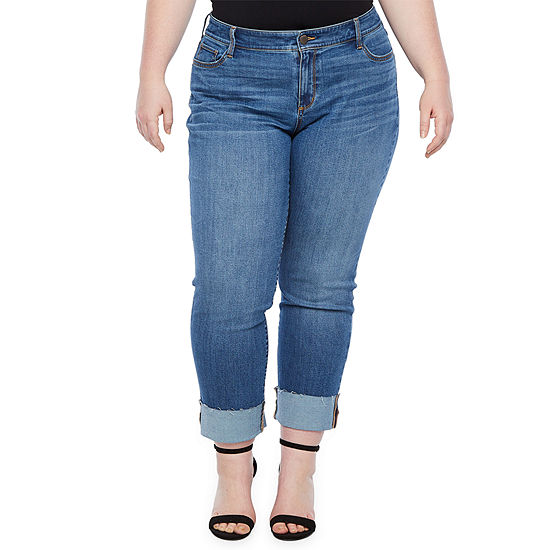 a.n.a Wide Cuff Straight Leg Jean - Plus