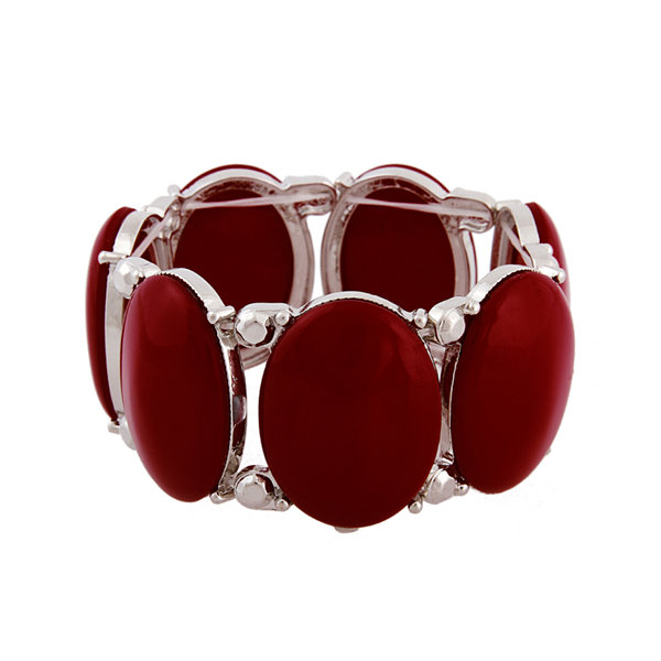 Mixit™ Red Silver-Tone Stretch Bracelet