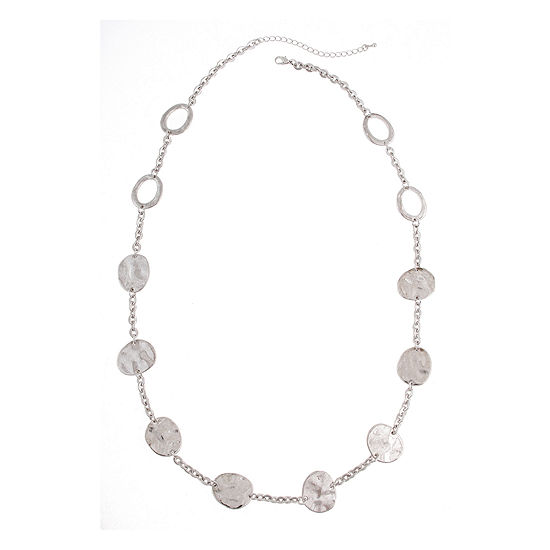 Bold Elements Silver Tone Hematite Necklace