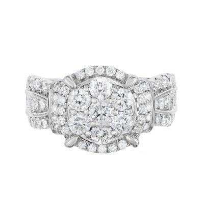 2 Ct. T.W. Diamond 10K White Gold Engagement Ring