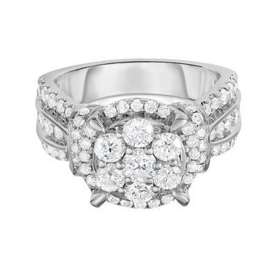 2 Ct. T.W. Diamond 10K White Gold Engagement Ring