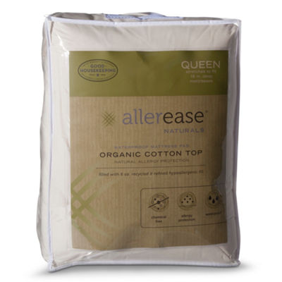 Allerease Natural Organic Cotton Waterproof Mattress Pad