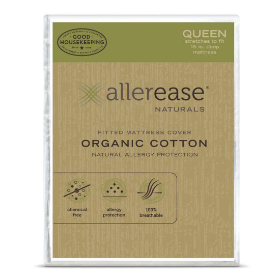 Allerease Naturals Organic Cotton Mattress Protector