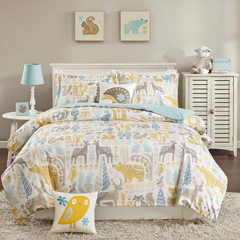 INK+IVY Kids Woodland Duvet Cover Set