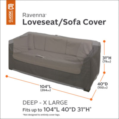 Classic Accessories® Ravenna Extra Large Deep Sofa Loveseat Cover