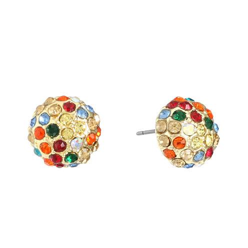Gloria Vanderbilt Brass Stud Earrings
