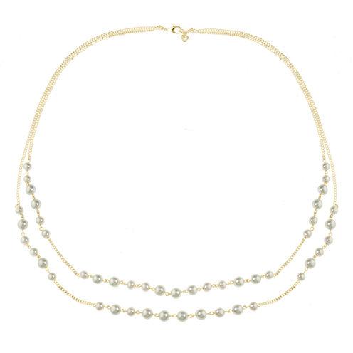 Gloria Vanderbilt Brass 16 Inch Chain Necklace