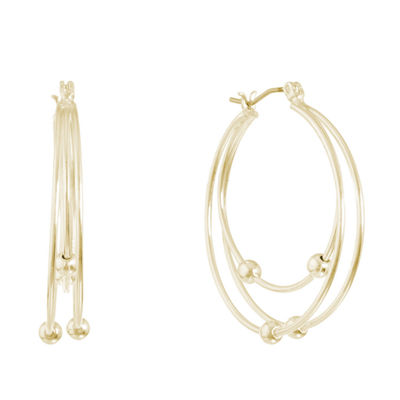 Gloria Vanderbilt 3 Inch Hoop Earrings