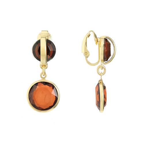 Gloria Vanderbilt Brass Clip On Earrings