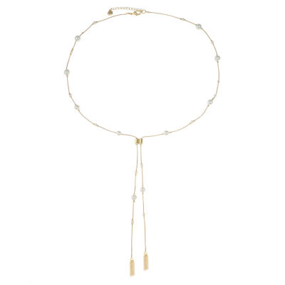Monet Jewelry Womens White Simulated Pearl Pendant Necklace