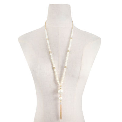 Monet Jewelry Womens White Pendant Necklace