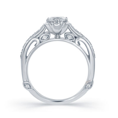"Enchanted by Disney 1 C.T. T.W. Diamond 14K White Gold ""Belle"" Bridal Ring"