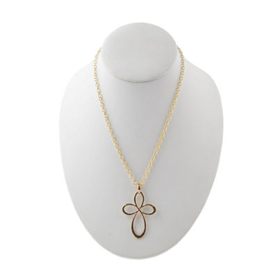 Artsmith By Barse Womens Cross Pendant Necklace