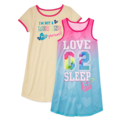 Jelli Fish Kids Short Sleeve Nightshirt-Big Kid Girls