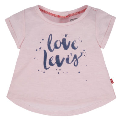 Levi's Short Sleeve Round Neck T-Shirt-Baby Girls