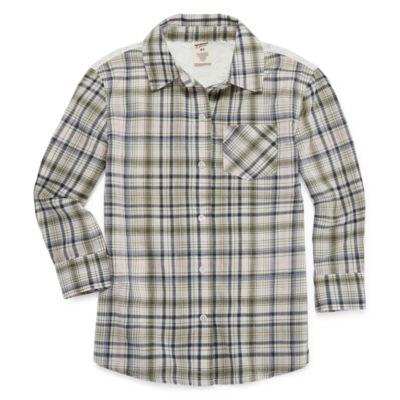 Arizona Long Sleeve Button-Front Shirt - Girls' Preschool