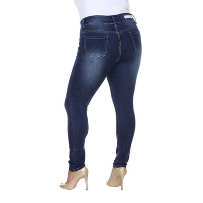 White Mark Super Stretch Jeggings-Plus