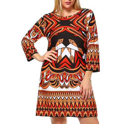 White Mark Revolution Geometric Sheath Dress - Plus