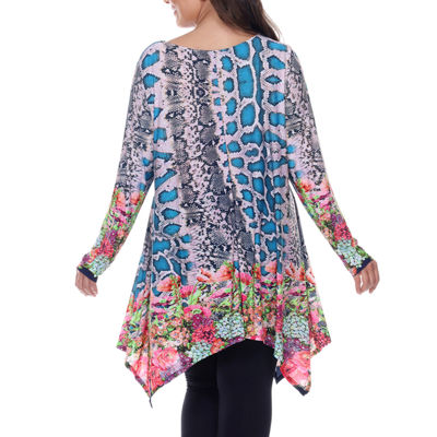 White Mark Marlene Tunic Top-Plus