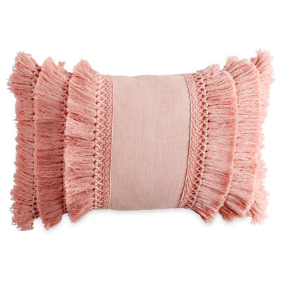 Peri Fringe Oblong Throw Pillow