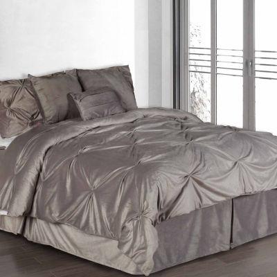 Pintuck Plush Midweight Comforter Set