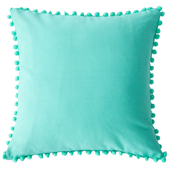 Lala+Bash Pompom Throw Pillow Cover
